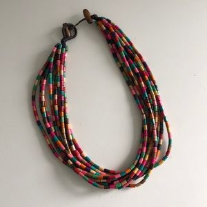 Jewelry - Handcrafted Multicolour Beaded Necklace